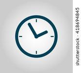 vector illustration of clock... | Shutterstock .eps vector #418694845