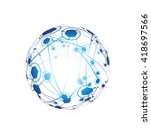 global network on white... | Shutterstock .eps vector #418697566