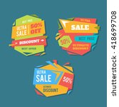 sale badges and special offer... | Shutterstock .eps vector #418699708