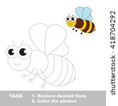 the bee in vector to be traced. ... | Shutterstock .eps vector #418704292