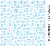 seamless pattern with online... | Shutterstock .eps vector #418710202