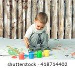 child. | Shutterstock . vector #418714402