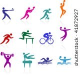 sports icon collection   Shutterstock .eps vector #41872927