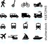 transportation icons design... | Shutterstock .eps vector #41872945