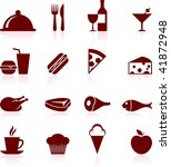 food and drink design elements | Shutterstock .eps vector #41872948