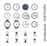 clock vector time icon isolated ... | Shutterstock .eps vector #418731592
