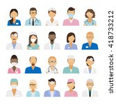 medical staff icons. doctors... | Shutterstock .eps vector #418733212