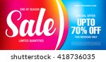 sale banner template design | Shutterstock .eps vector #418736035