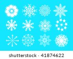 snowflakes | Shutterstock .eps vector #41874622