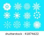 snowflakes | Shutterstock .eps vector #41874622