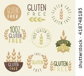 gluten free   Shutterstock .eps vector #418748185