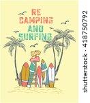 surf illustration   t shirt... | Shutterstock .eps vector #418750792