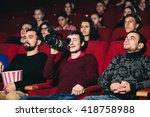 illegal video in cinema | Shutterstock . vector #418758988