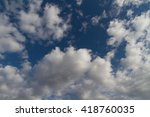 heavenly background with a lot... | Shutterstock . vector #418760035