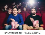 friends at the cinema | Shutterstock . vector #418762042