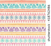 tribal seamless pattern with... | Shutterstock .eps vector #418762486