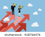 business man and woman have a... | Shutterstock .eps vector #418766476