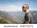 young man on nature  moro rock  ... | Shutterstock . vector #418772272