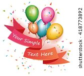 celebration background | Shutterstock .eps vector #418773892