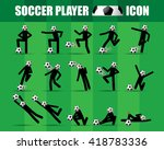 soccer football player icon... | Shutterstock .eps vector #418783336