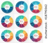 vector pie chart templates for... | Shutterstock .eps vector #418790362