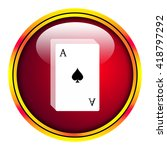 playing cards icon | Shutterstock . vector #418797292