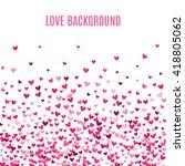romantic pink heart background. ... | Shutterstock . vector #418805062