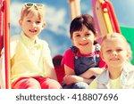 summer  childhood  leisure ... | Shutterstock . vector #418807696