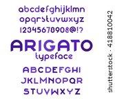 arigato typeface. custom... | Shutterstock .eps vector #418810042