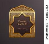 ramadan graphic background | Shutterstock .eps vector #418812265