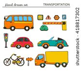 set of cartoon transportation... | Shutterstock .eps vector #418817302