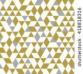 seamless golden pattern of... | Shutterstock .eps vector #418818316