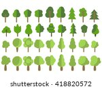 flat trees in a flat design.... | Shutterstock .eps vector #418820572