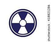white radiation sign vector