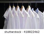 men's shirts on hangers in... | Shutterstock . vector #418822462
