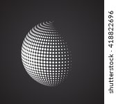 halftone sphere. isolated... | Shutterstock .eps vector #418822696