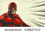 comic book red stylized... | Shutterstock .eps vector #418827412