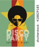 disco party event flyer....   Shutterstock .eps vector #418829185