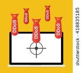 victim computer laptop with... | Shutterstock .eps vector #418835185