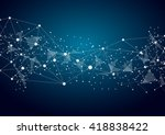 abstract technology futuristic... | Shutterstock .eps vector #418838422