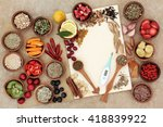 health food selection for cold... | Shutterstock . vector #418839922