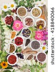 large herb and flower selection ... | Shutterstock . vector #418840066