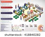 illustration of info graphic... | Shutterstock .eps vector #418840282