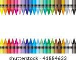 Brightly Colored Crayon Border...