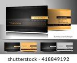 business card design standard... | Shutterstock .eps vector #418849192
