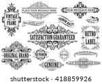 vintage label.collection of... | Shutterstock .eps vector #418859926