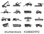 agriculture machines tractors... | Shutterstock .eps vector #418860592