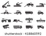 agriculture machines tractors... | Shutterstock .eps vector #418860592