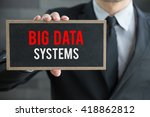 big data systems  message on... | Shutterstock . vector #418862812