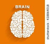 flat style vector brain on... | Shutterstock .eps vector #418864018